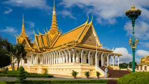 Front view of Royal Palace in Phnom Penh, Cambodia, offered in a tour with Asia Vacation Group