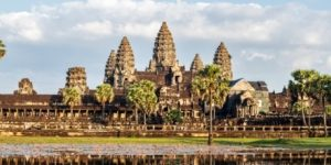 Wide view of Angkor Wat temple at Siem Reap, Cambodia, included in tours offered by Asia Vacation Group
