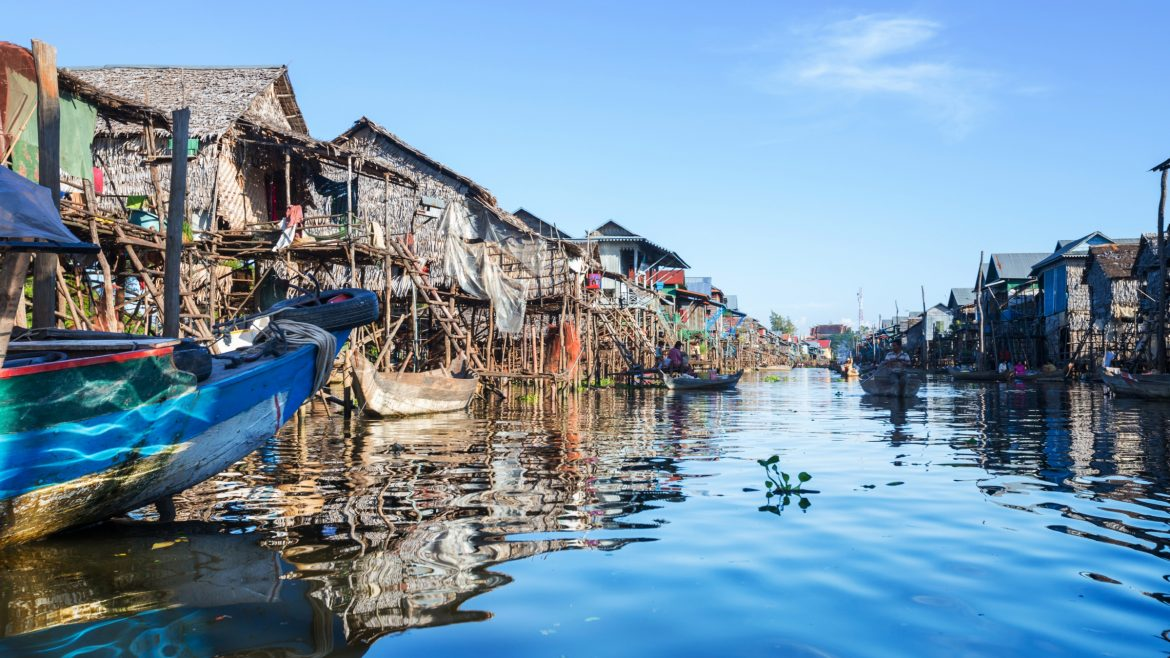 Tonle Sap Lake in Siem Reap, Cambodia, included in a tour offered by Asia Vacation Group