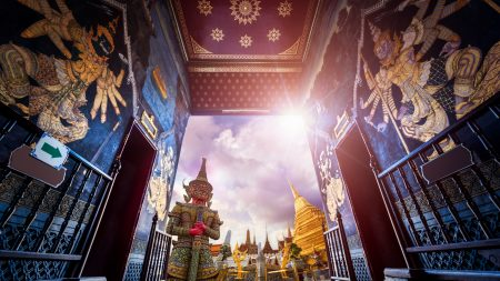 Gate at Grand Palace Wat Pra Kaew, Bangkok, Thailand, included in tours offered by Asia Vacation Group