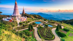 Aerial view of Chiang Mai, Thailand, included in tours offered by Asia Vacation Group