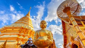 Wat Phra That Doi Suthep in Chiang Mai, Thailand, included in tours offered by Asia Vacation Group