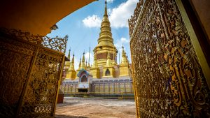 Gate at LamPhun Wat in Thailand, included in tours offered by Asia Vacation Group