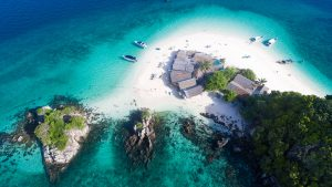 Aerial view of Phuket Khai Nok Island in Thailand, included in tours offered by Asia Vacation Group
