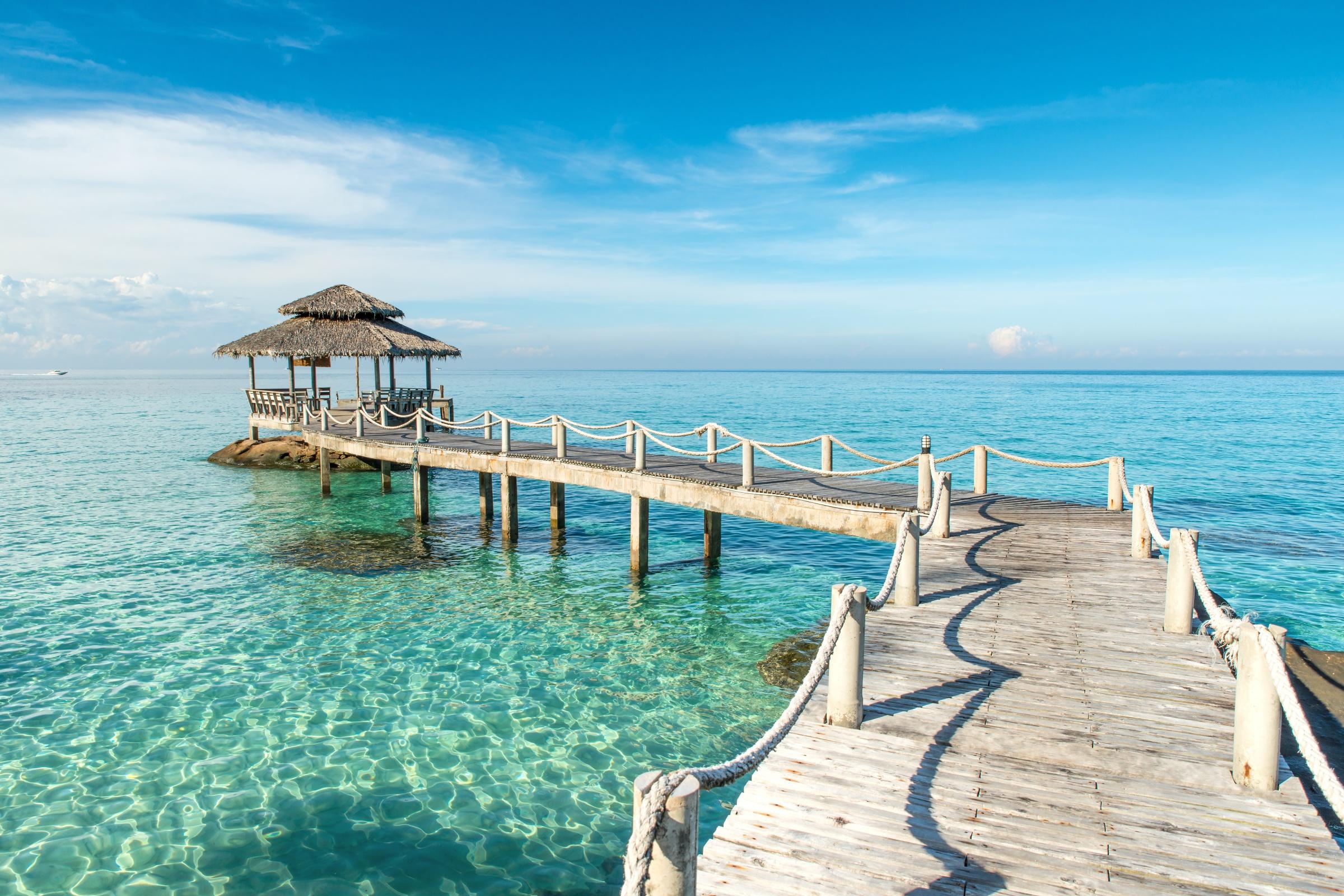Thailand Phu Ket Wooden Pier