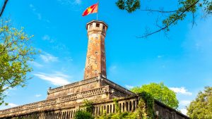Flag Tower in Hanoi, Vietnam, included in tours offered by Asia Vacation Group