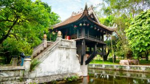 One Pillar Pagoda in Hanoi, Vietnam, included in tours offered by Asia Vacation Group