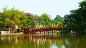 The Huc Bridge in Vietnam, a trusted partner of Asia Vacation Group