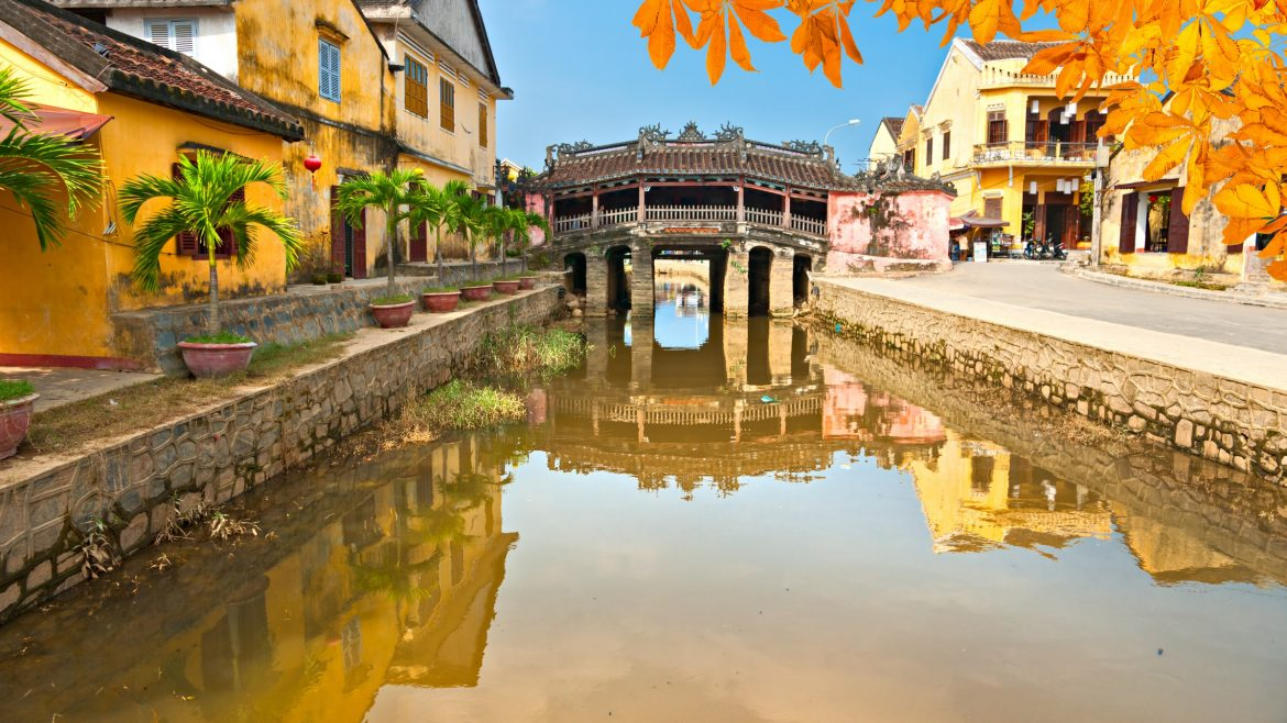 Japanese Covered Bridge in Hoi An, Vietnam, included in tours offered with Asia Vacation Group