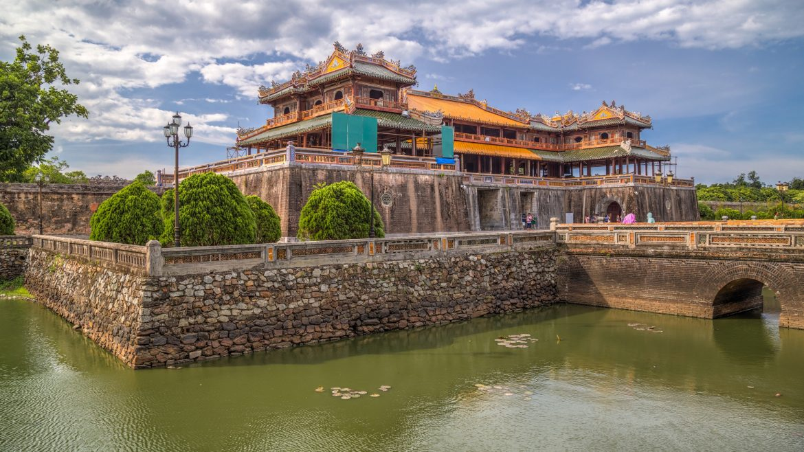 Hue Imperial citadel at Hue, Vietnam, included in tours offered by Asia Vacation Group