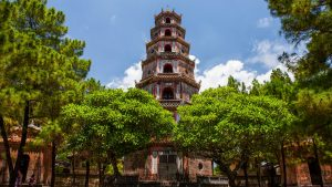 Thien Mu pagoda in Hue, Vietnam, included in tours offered by Asia Vacation Group