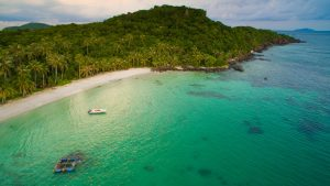 Aerial view of May Rut island in Phu Quoc, Vietnam, included in tours offered by Asia Vacation Grup