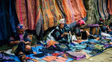Local market of Hill Tribe in Sapa, Vietnam, included in tours offered by Asia Vacation Group