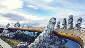 Golden Bridge closeup in Ba Na, Da Nang, included in tours offered by Asia Vacation Group